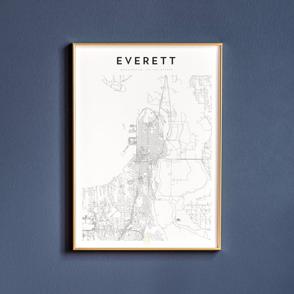 Everett, Washington map poster