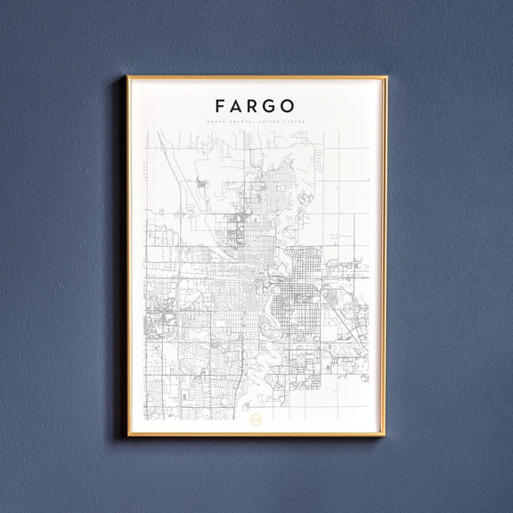 Fargo, North Dakota map poster