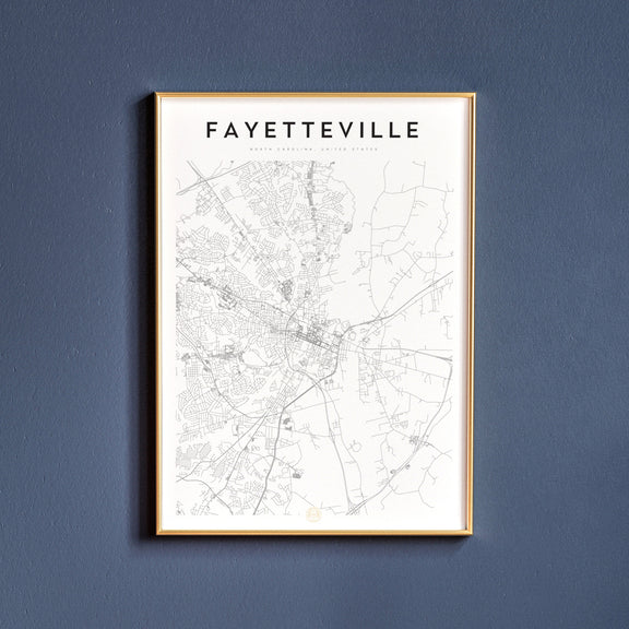 Fayetteville, North Carolina map poster