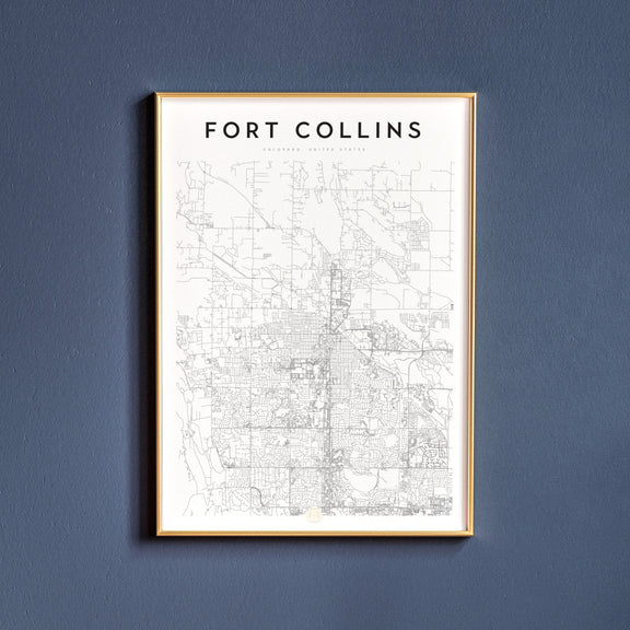 Fort Collins, Colorado map poster