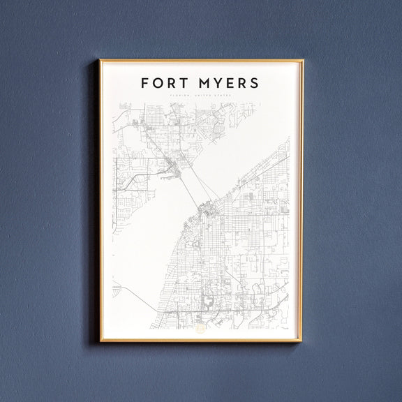 Fort Myers, Florida map poster