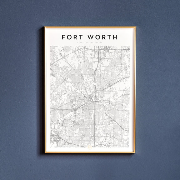 Fort Worth, Texas map poster