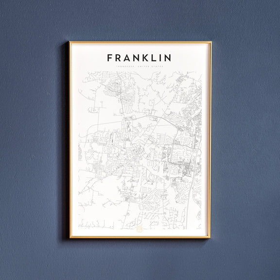 Franklin, Tennessee map poster