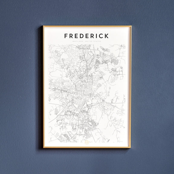 Frederick, Maryland map poster