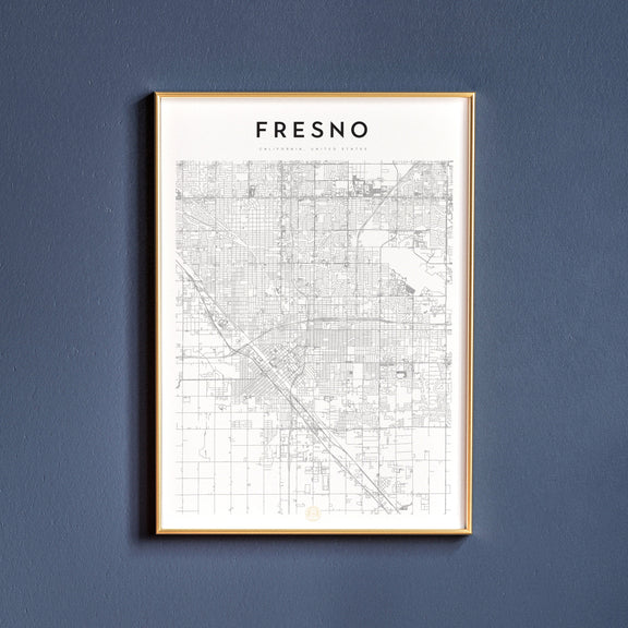 Fresno, California map poster