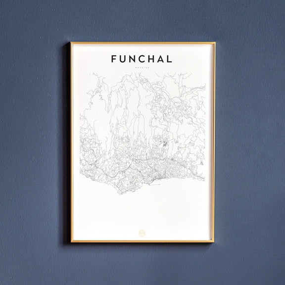 Funchal, Madeira map poster
