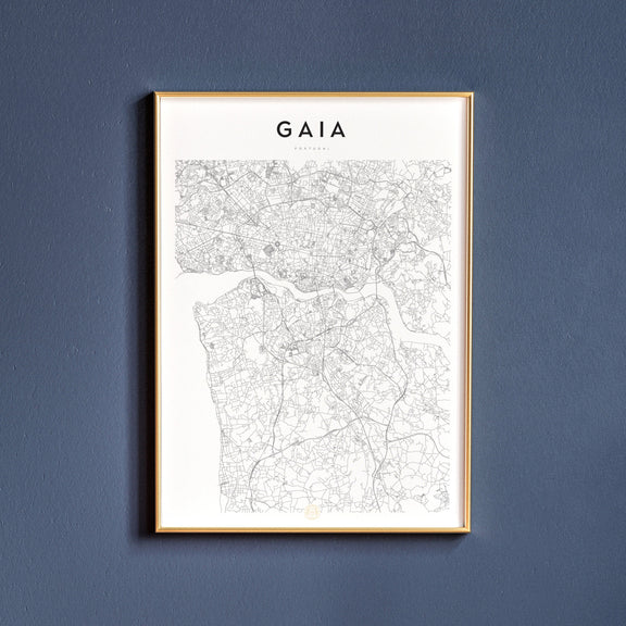 Gaia, Portugal map poster