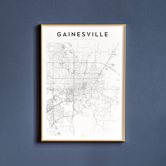 Gainesville, Florida map poster