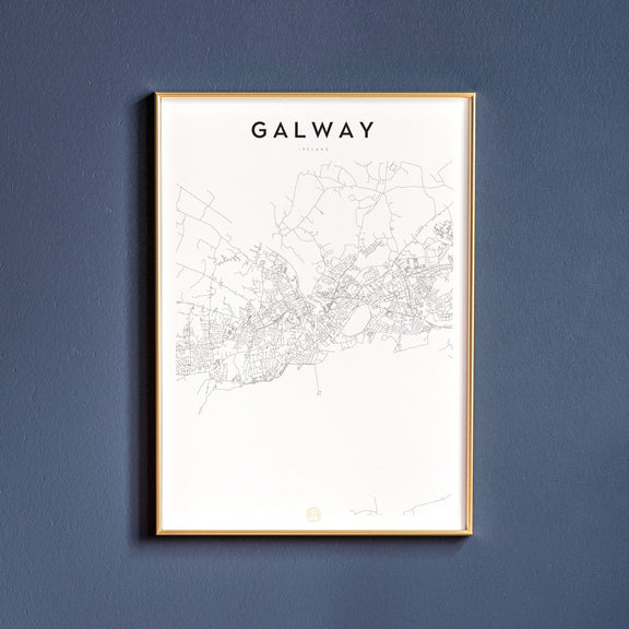 Galway, Ireland map poster