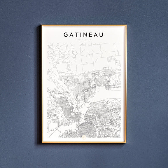 Gatineau, Quebec map poster