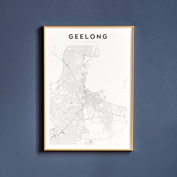 Geelong, Victoria map poster