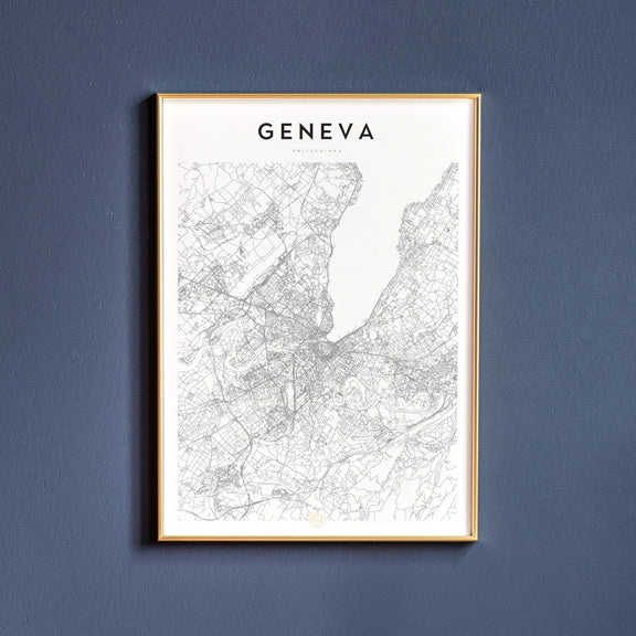 Geneva, Switzerland map poster
