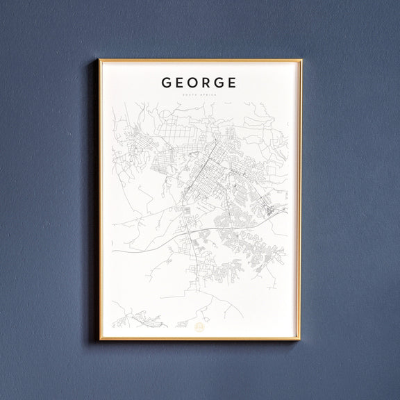 George, South Africa map poster