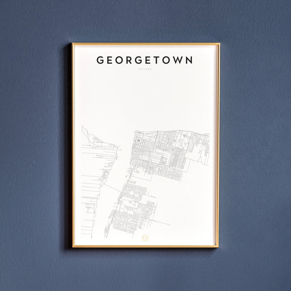 Georgetown, Guyana map poster