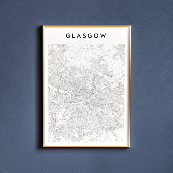 Glasgow, Scotland map poster