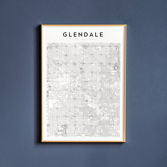 Glendale, Arizona map poster