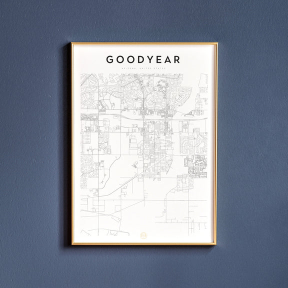 Goodyear, Arizona map poster