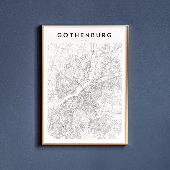 Gothenburg, Sweden map poster