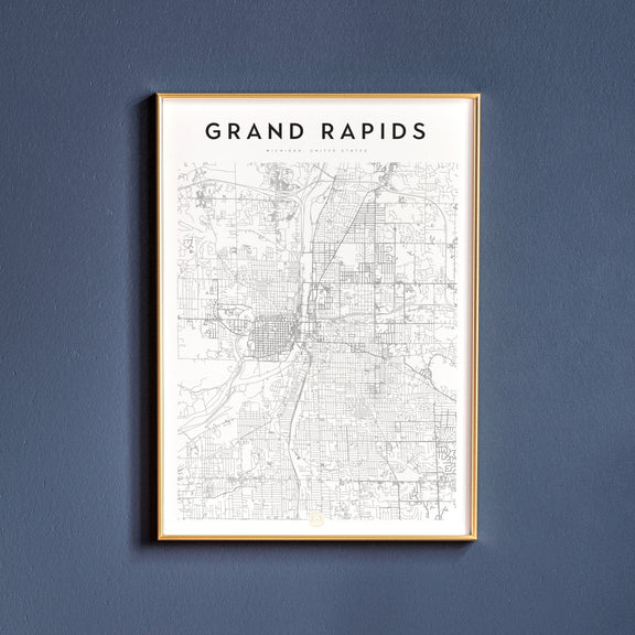 Grand Rapids, Michigan map poster