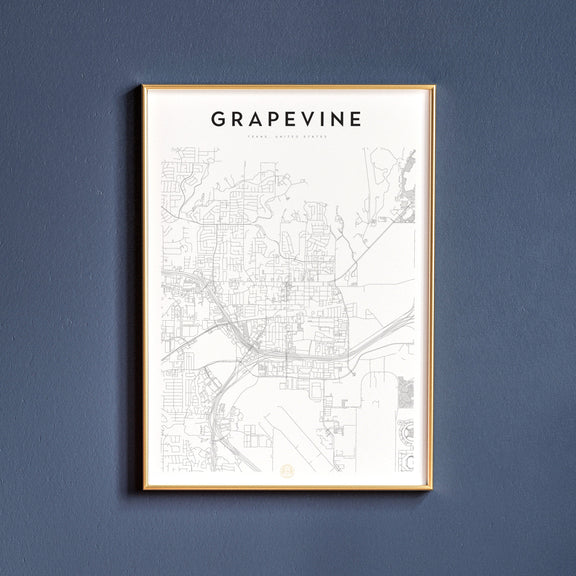 Grapevine, Texas map poster