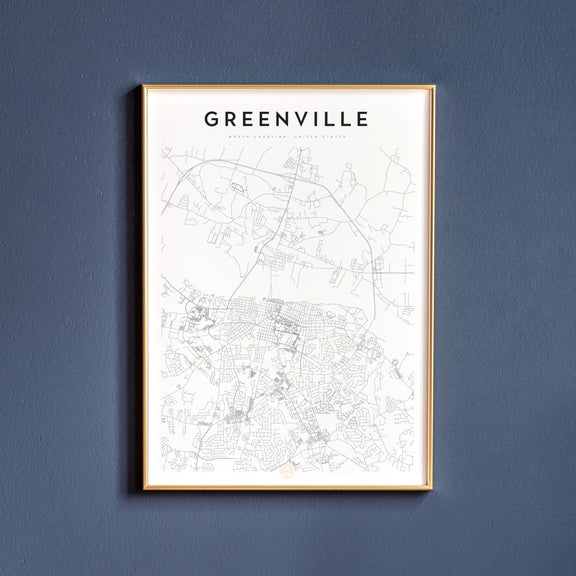 Greenville, North Carolina map poster