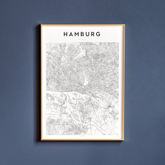 Hamburg, Germany map poster