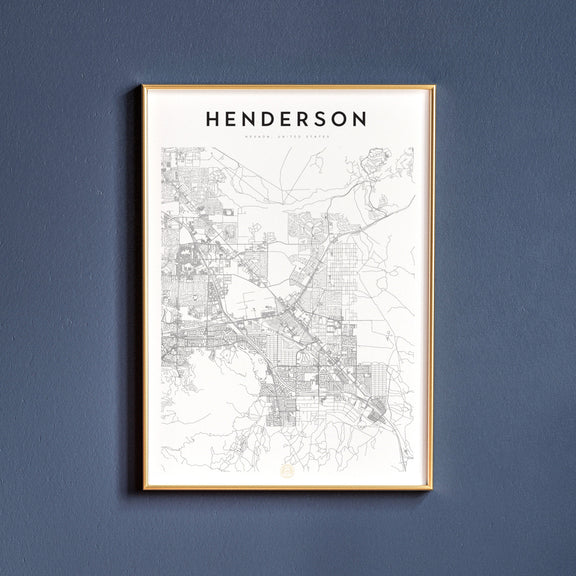 Henderson, Nevada map poster