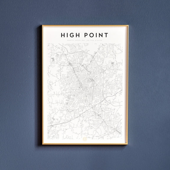 High Point, North Carolina map poster