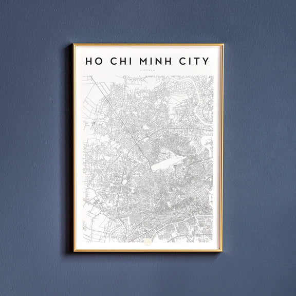 Ho Chi Minh City, Vietnam map poster