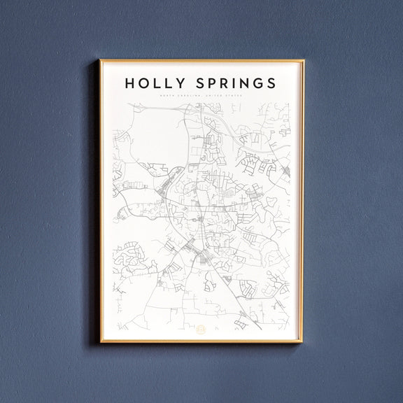 Holly Springs, North Carolina map poster
