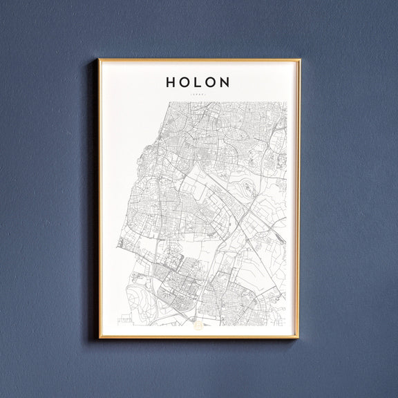 Holon, Israel map poster