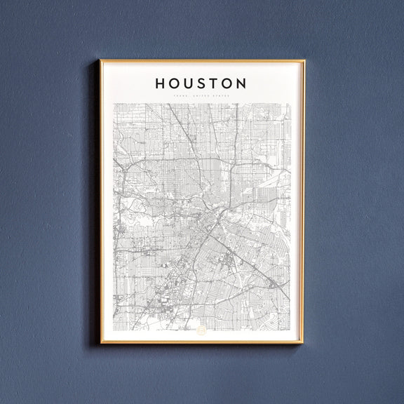 Houston, Texas map poster