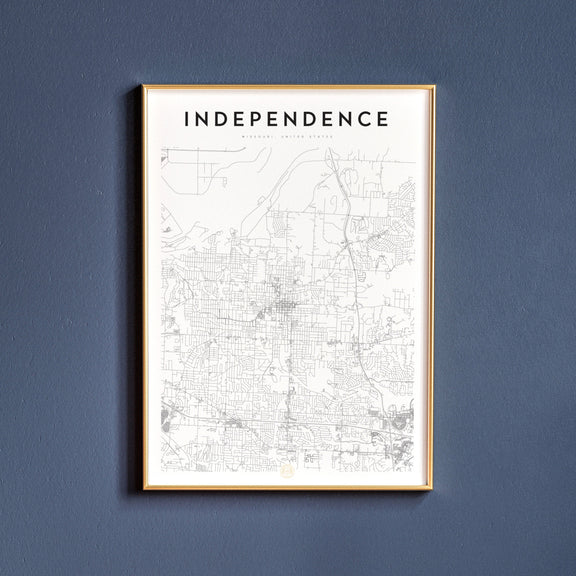 Independence, Missouri map poster