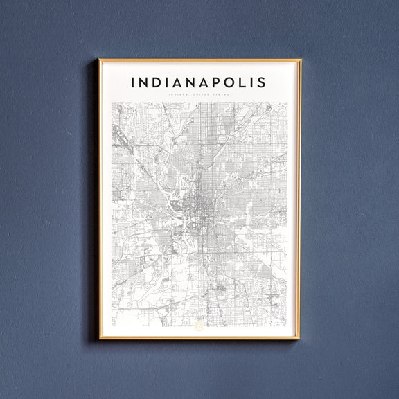 Indianapolis, Indiana map poster