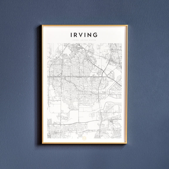 Irving, Texas map poster