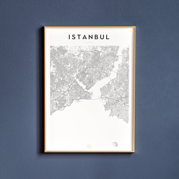 Istanbul, Turkey map poster