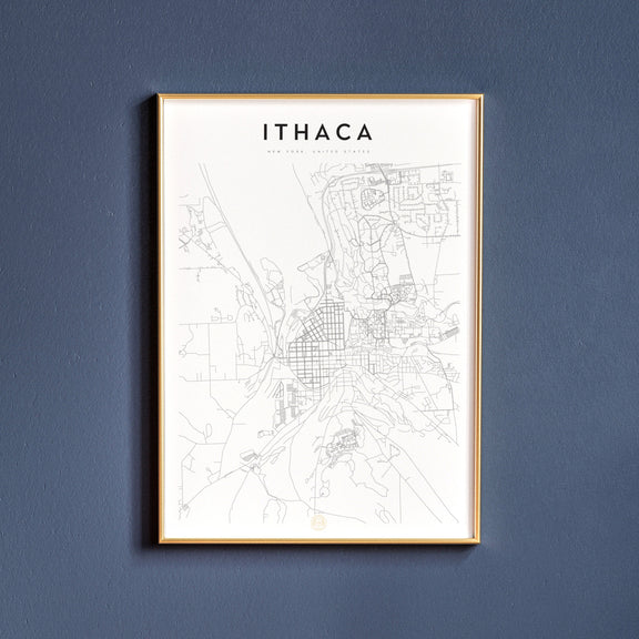 Ithaca, New York map poster