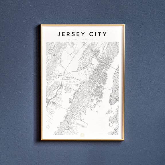 Jersey City, New Jersey map poster