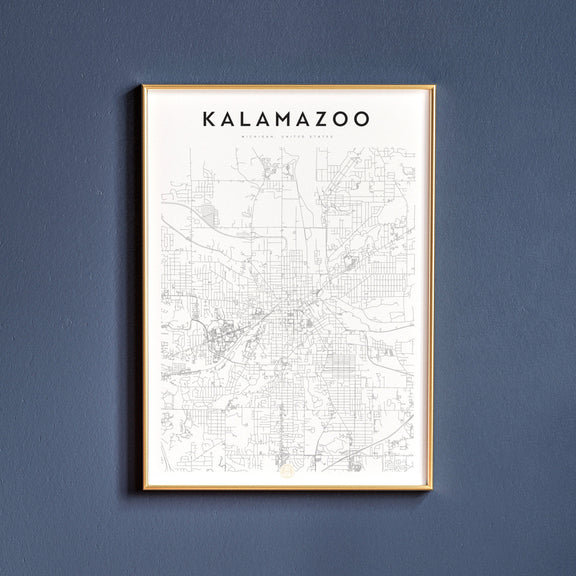 Kalamazoo, Michigan map poster