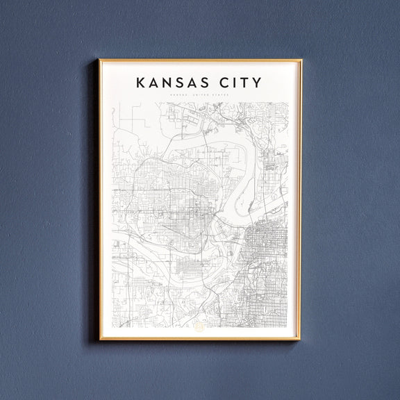 Kansas City, Kansas map poster