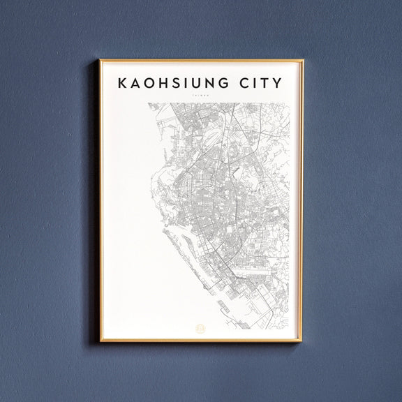 Kaohsiung City, Taiwan map poster