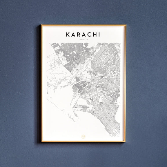 Karachi, Pakistan map poster