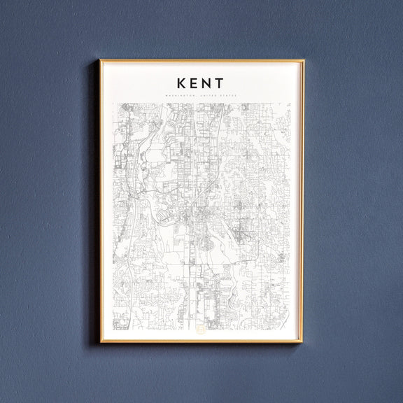 Kent, Washington map poster