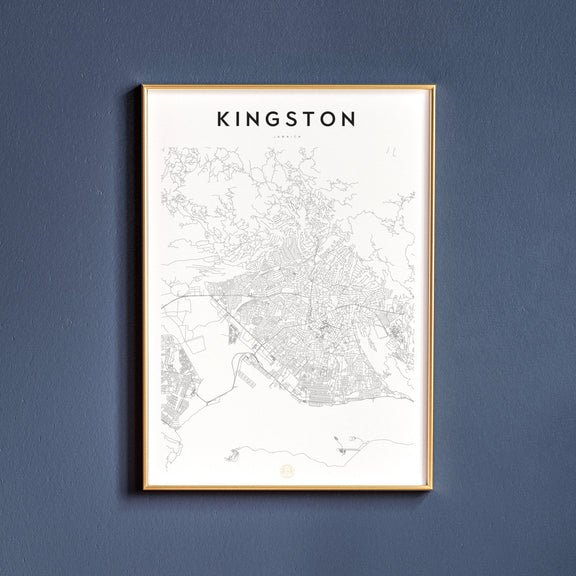 Kingston, Jamaica map poster
