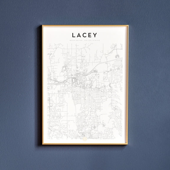 Lacey, Washington map poster