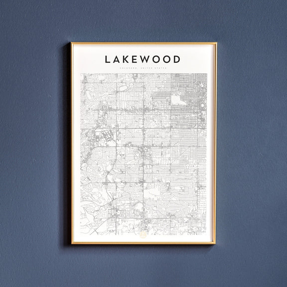 Lakewood, Colorado map poster