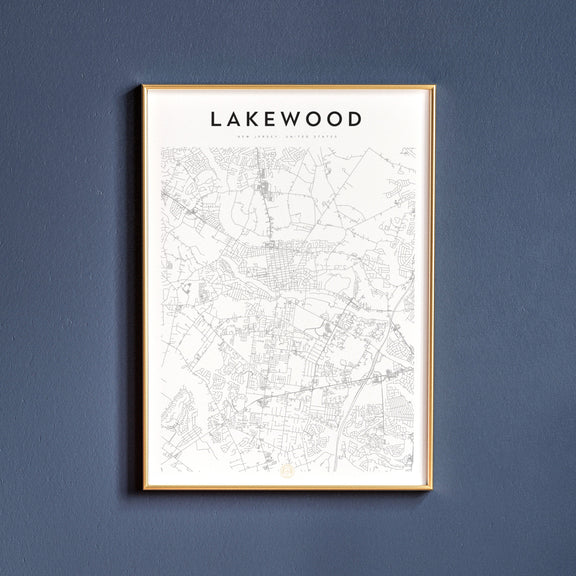 Lakewood, New Jersey map poster