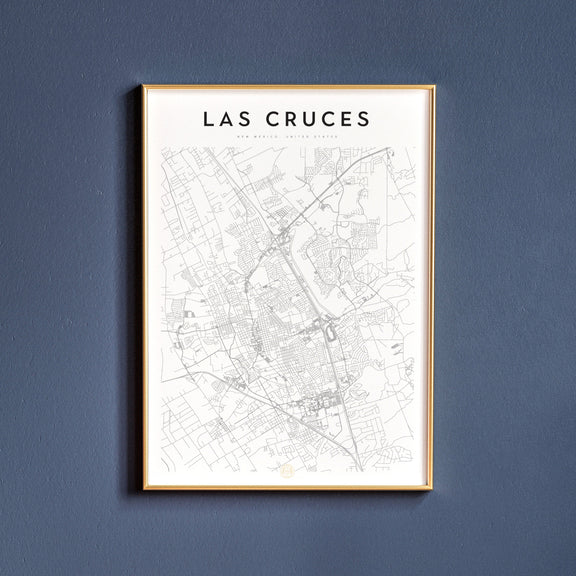 Las Cruces, New Mexico map poster