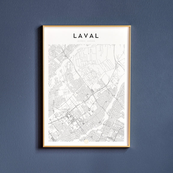 Laval, Quebec map poster