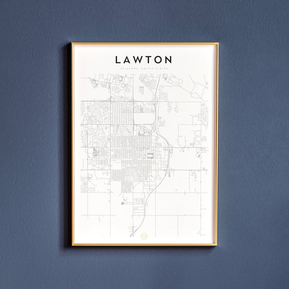 Lawton, Oklahoma map poster